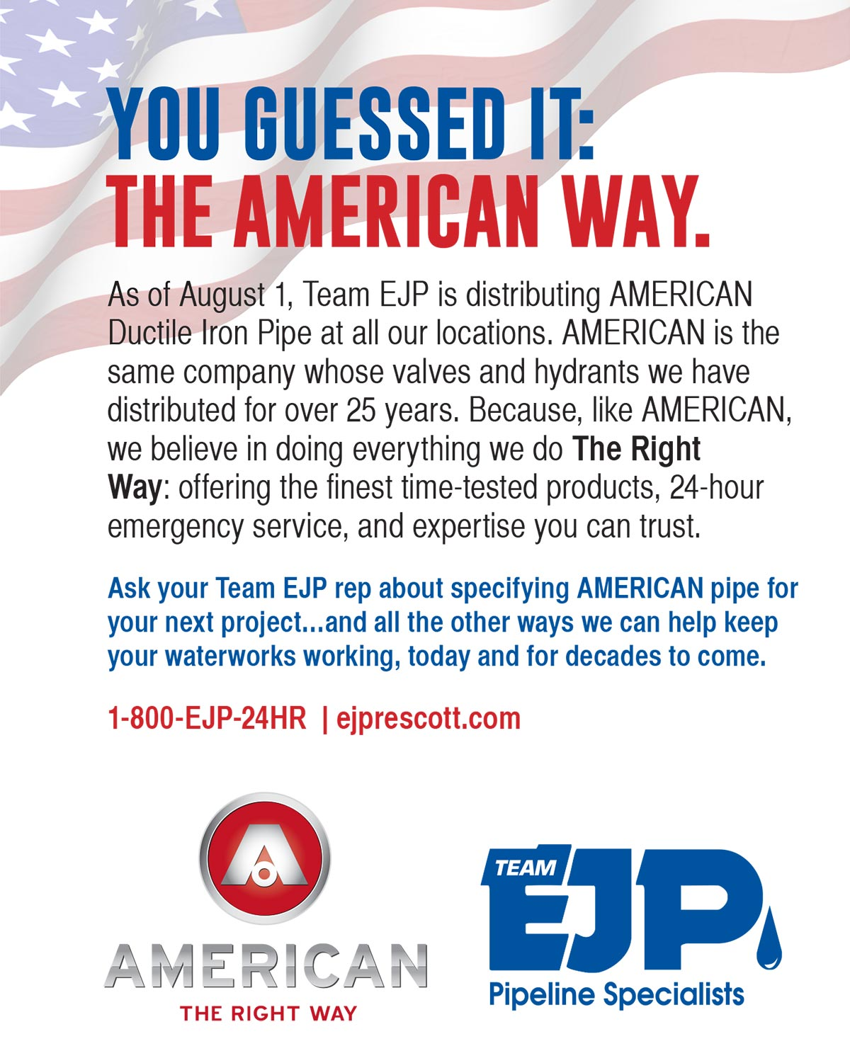 American Pipe Announcment
